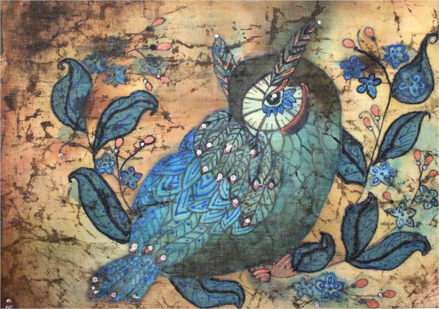 Мартынова Алина, 13 лет, за работу «Ястребиная сова»